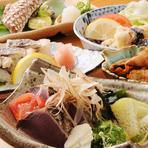 土佐の珍味が満載のお料理コースです。県外のお客様にピッタリなプランです。