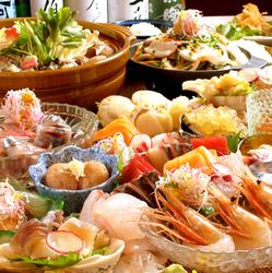 宮城で宴会をするならこの会席で決まり。名物、牡蠣鍋が食欲をそそります。
