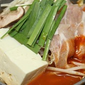 韓国 豚肉のチゲ味噌鍋