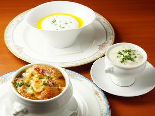 スープ料理全般、食材の味を生かした特徴のある一品