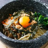 石焼ビビンバ(スープ付き)900円