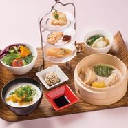 李さんの飲茶と中華粥のセット