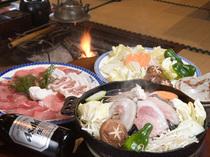 いのしし料理【猪炭火焼】