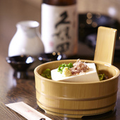 当店の豆腐料理には、与儀の「島ちゃん」の島豆腐を使用!