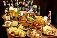 ドイツソーセージ、ドイツ料理各種に合う、多種多様なドイツビールをご提案致します。