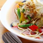 旬野菜の冷製和風パスタ