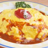 カニクリームコロッケ定食 サラダ・ライス・味噌汁付