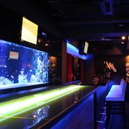 深海にいるような空間演出で、シットリとゆったりと居られる。 大人なデートをお楽しみください。