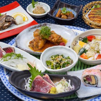【鍋なし味わい】八金地鶏の柚子塩鍋と亀次味わいコース