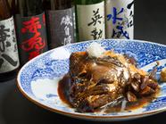 淡白な白身の和歌山産天然クエを贅沢に使用した『あら煮』