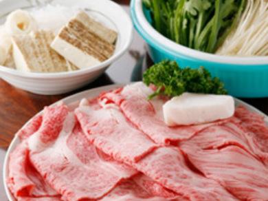 特選 近江牛すき焼き【あしらい一式、ご飯、香の物付き】