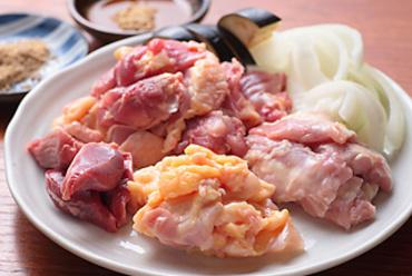 焼きセット(もも、皮、ネック、ずり、野菜)