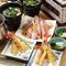 タラバ炭火焼・天ぷらコース
