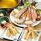 タラバ天ぷら・かに鍋コース