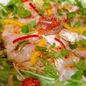 鮮魚と野菜たっぷりカルパッチョ