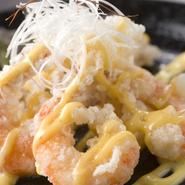 プリプリの海老を美味しいソースでお楽しみ下さい。