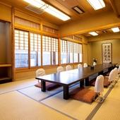 個室和室は2名~30名までご対応可能です。