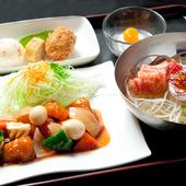 酢豚冷麺セット(韓国冷麺)