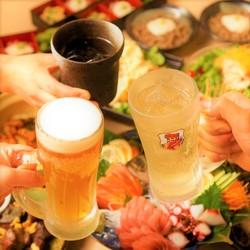 ※平日3時間(水曜日・金曜日・土曜日・祝前日は2時間)の宴会となります。