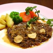 牛ヒレ肉ガーリックステーキ