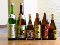 豊富な種類の地鶏料理に合うアルコール類を多数ご用意