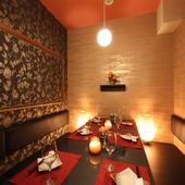 4F一番奥のVIP個室は大人な雰囲気漂う隠れ家的空間
