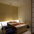 個室もご用意致しておりますので、おくつろぎできる空間でお料理をお楽しみ下さい。