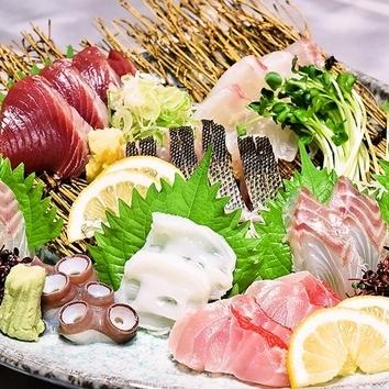 【土日月限定】豪華刺盛コース…3時間飲み放題付・料理6品
