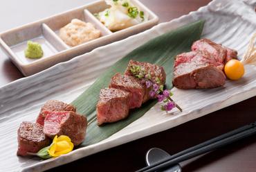 熟成肉の三種盛り(フィレ・サーロイン・ランプ)