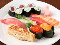 シャリとネタの大きさのバランスが絶妙な『特上寿司』
