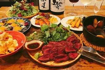 手作りのお料理と飲み放題のお得なプラン! (4名様~8名様)3日前までに要予約