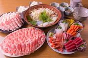 クーポン提示で【6000円⇒5000円】に!旬の鮮魚もりだくさん豪華『刺身盛り合わせ』の付いたコース。