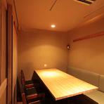 和の落ち着いた完全個室!