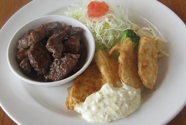 サイコロステーキ&チキン南蛮