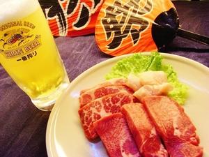 肉肉祭りコース!!(バイキング60品+特撰骨付きカルビ・上タン・上ハラミ食べ放題)
