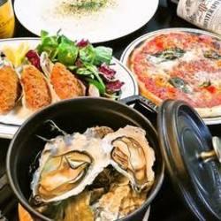 牡蠣&シーフードの人気料理が食べられるコースです!