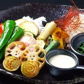 季節の焼き野菜のバーニャカウダ