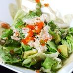 蟹とアボカドのサラダ カニ味噌ソース