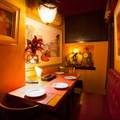 24席ほどのこぢんまりとしたイタリア食堂