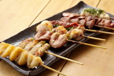 新鮮朝びき鶏の『串8本コース』