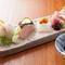 季節野菜と旬の魚、お肉を盛り込んだ当店一押しコース料理です。