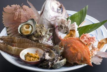 長崎五島で採れる魚介。