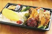 チキン南蛮・わらびもち・野菜の煮物・漬物・白ご飯・タルタルソース