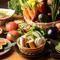 本日入荷の新鮮野菜料理