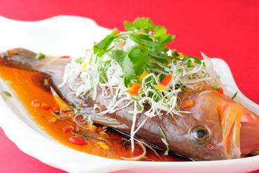 お魚の香港風醤油蒸し