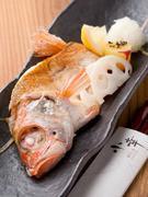 高級魚「のどぐろ」の塩焼き。新鮮で程よく脂がのった至極の一品です。