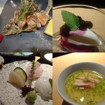 季節のおまかせ料理(初夏の一例)