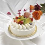 提携パティシエによるデコレーションケーキを用意できます!