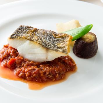 ディナーコース 魚料理メイン
