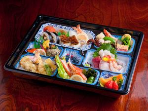 『法事料理』3000円のお料理一例 320×350mm